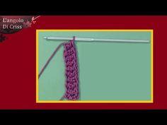 Come lavorare l'uncinetto senza la catenella iniziale in verticale - tutorial - YouTube
