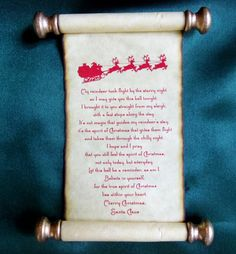 Santa's message for Polar Express bell...