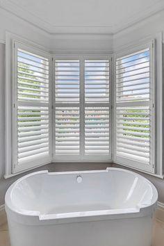 Bathroom Beauty Next to The Home of Fulham Football   Plantation Shutters   #interiordesign #interiorarchitecture #architecture #design #victorian #industrialdesign  #homedecor #home #bathroomdesign #interiordesigner #interiors123 #project #london #shutters #plantationshutters #bespoke #madetomeasure #windows #decor #decoration #mondaymotivation #table #dining #relax  #trending #inspiration #plantationshuttersltd
