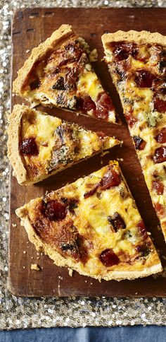 A vegetarian tart with butternut squash, stilton and membrillo will knock your socks off!