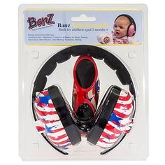 Baby Banz mini earmuffs combo Orange Earmuffs Sunglasses 0-2