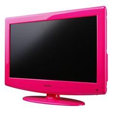 a big pink tv