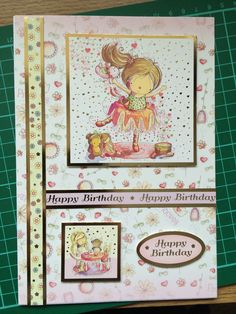Birthday card for a little girl