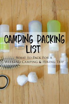 Packing List for a Weekend Camping and Hiking Trip -> Are you planning a summer road trip to go camping and/or hiking? Check out my packing list for a list of everything I brought with me on my first tenting trip and what I wished I had brought! #backpackingpackinglist Camping Diy, Weekend Camping Trip, Bushcraft Camping, Camping Lights, Camping And Hiking, Camping Ideas, Tent Camping, Camping Tricks, Camping Places