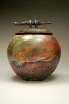 A beautiful piece of raku pottery