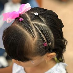 Bellas #trenzas y #peinados en #colorin #peluqueria #cucuta #braids #braid #braidstyles #girls #girl #hairstyle #hair #tranca #tranças… Cute Curly Hairstyles, Baddie Hairstyles, Little Girl Hairstyles, Braided Hairstyles, Curly Hair Styles, Hair Dos For Kids, Braids For Kids, Girls Braids, Ariel Hair