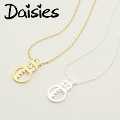 Daisies One Piece Gold Silver Snowman Necklace Christmas Winter Accessories Necklaces Pendants For Women Jewelry collier femme