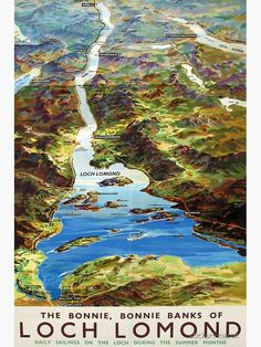 The Bonnie, The Loch, Railway Posters, Loch Lomond, Travel Wall, Vintage Travel Posters, Summer Months, Retro, Poster Wall
