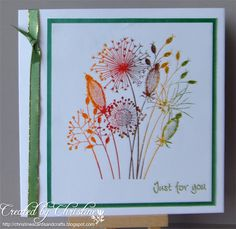 After a very dull start to the day yesterday by half past three it was really quite nice. Who knows what today will bring? Cardio Cards, Craftwork Cards, Watercolor Cards, Sympathy Cards, Cool Cards, Flower Cards, Greeting Cards Handmade, Making Ideas, Cardmaking