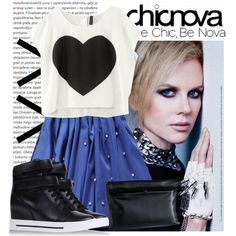 Blue heart, created by nickyavakidou on Polyvore