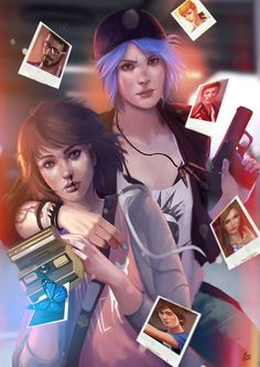 Life is Strange - Max and Chloe - Fanart , Raquel Cornejo on ArtStation at https://www.artstation.com/artwork/vYZ3d - More at https://pinterest.com/supergirlsart/ #lis