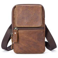 Genuine Leather Casual Vintage Single Shoulder Crossboby Bag For Men
