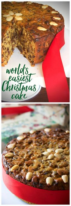The world's easiest Christmas cake. Just five ingredients and it keeps for weeks! Once you've tried it, you'll never go back!