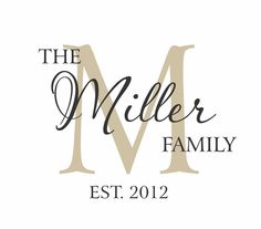 Family Name Vinyl Wall Decal - Established Year Last Name Decal Personalized with Monogram for Living or Family Room Decal 22Hx28W FS0307 on Etsy, $42.00