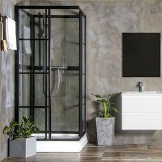 Brusekabine Bathlife Betrakta Rak 90 x 90 x 200 cm - home/mobel Spa Bathroom Design, Best Bathroom Designs, Bathroom Spa, Bathroom Layout, Modern Bathroom, Bathroom Ideas, Luxury Shower, Luxury Bath, Luxury Spa