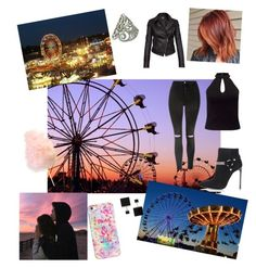 """""""Fashion #670"""" by devilvearsprada ❤ liked on Polyvore featuring beauty, Topshop, Miss Selfridge, Yves Saint Laurent, Barbour International, NOVICA, Casetify, Vita Fede, hairtrend and rainbowhair"""