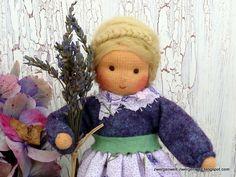 Blumenkind Lavendel für Jahreszeitentisch von Zwergenwelt auf DaWanda.com