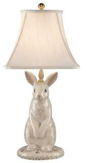 I love that this lamp is actually called 'Dignified rabbit table lamp'. Is it really dignified having a bulb and shade shoved on your head? I'm not sure.... $334.91