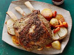 Get Standing Rib Roast with Cabernet au Jus Recipe from Food Network