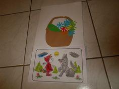 Karkulka - omalovánka a košíček pro babičku