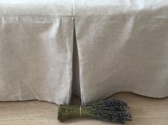 Bed linnen rok koningin bedskirt bed valance door HappyHomyHandmade