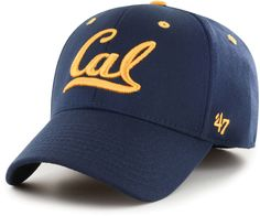 Settle for nothing but the best Cal style in the '47® Men's Cal Golden Bears Kickoff Contender Fitted Hat. Classic Collegiate Style Curved brim, fitted hat Six-panel construction Embroidered eyelets for added ventilation Style and Team Spirit Golden Bears logo embroidered at front crown '47® branding at left crown Cal wordmark at back crown Contrasting team-colored stitching and eyelets Additional Details One size fits most Officially licensed collegiate product California Golden Bears, Baseball Hats, Fitness, Blue, Men, Products, Style, Fashion, Swag