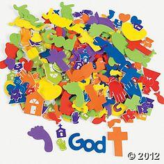 500 Fabulous Foam Self-Adhesive Faith Shapes