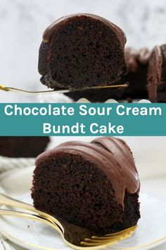 This Chocolate Sour Cream Bundt Cake with chocolate cream cheese frosting is an easy chocolate bundt cake recipe. It's light, fluffy and super moist, it's one of the best homemade chocolate cakes I've made. Chocolate Cream Cheese Icing, Cake With Cream Cheese, Chocolate Flavors, Chocolate Recipes, Super Moist Chocolate Cake, Chocolate Bundt Cake, Sour Cream Desserts, Just Desserts, Homemade Sour Cream