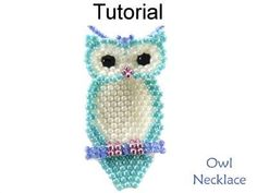 Beaded Owl Necklace Brick Stitch Beading Pattern Tutorial | Simple Bead Patterns #jewelrymaking #cbloggers #bloggers