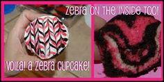 cupcake zebras - kids take home treats