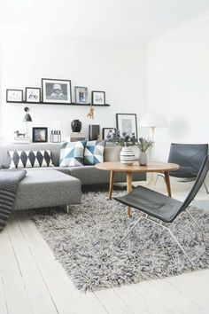 scandinavian inspired living room #scandinavian #livingroom #inspiration #grey…