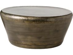 Arteriors Home Malcom Dark Silver with Brass Welds 35.5'' Round Coffee Table | 6238