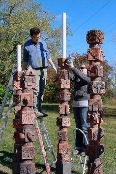 Niles North H.S. Sculpture Project, via Flickr.
