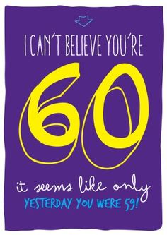 59 yesterday | Birthday Card | BC1583