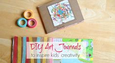 DIY Art Journals for Kids (with Drawing Prompts)
