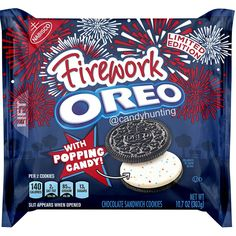 Oreo Firework with Popping Candy Chocolate Sandwich Cookies, Ounce - Food Oreo Cupcakes, Oreo Cookies, Chocolate Cookies, Oreo Treats, Oreo Desserts, Chocolate Tarts, Yummy Cookies, Plated Desserts, Yummy Treats