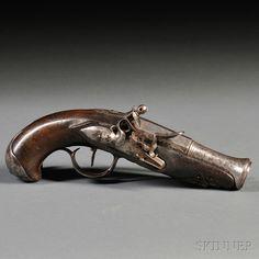 Flintlock Pistol with Belt Hook, c. late 18th century