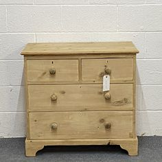 Small Victorian Pine Chest Of Drawers (F7305B)