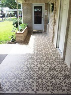 40 Stunning Painted Floor Tiles For Patio Decor Ideas 2019 Find out additional relevant information on patio decorating ideas on a budget. Check out our site. The post 40 Stunning Painted Floor Tiles For Patio Decor Ideas 2019 appeared first on Patio Diy. Patio Tiles, Outdoor Tiles, Outdoor Decor, Concrete Patios, Porch Flooring, Outdoor Flooring, Tile Flooring, Flooring Ideas, Diy Patio