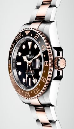The Rolex GMT-Master II in an Everose Rolesor version – a combination of Oystersteel and Everose gold. The Rolex GMT-Master II in an Everose Rolesor version – a combination of Oystersteel and Everose gold. Best Watches For Men, Luxury Watches For Men, Cool Watches, Trendy Watches, Popular Watches, Latest Watches, Dream Watches, Elegant Watches, Casual Watches