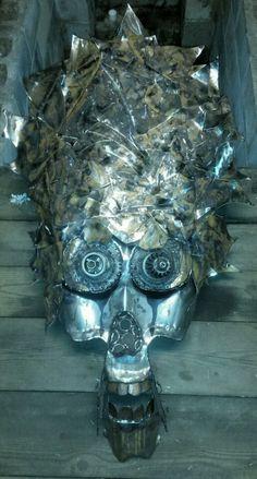 Hmmmm....this project just evolved into a slightly dif direction....maybe. Rollin with it.... #steampunk #heart #love #pain #hurt #blood #halloween #voodoo #WitchDoctor #valentine #poe #skull #face #mask #head #brain #real #tattoo #gun #skeleton #weldporn #brutalist #hand #love #hate #sculpture #slipknot #eminem #deftones #korn #art #MetalArt #playstation #xbox