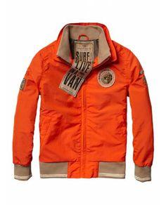 Basic crispy nylon jacket - Jackets - Scotch & Soda Online Shop