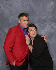 Nathan Fillion and Bruce Campbell