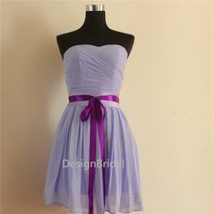 Lavender Bridesmaid Dresses ChiffonStrapless by DesignBridal
