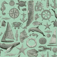 Pattern Maritime In Classic Scrimshaw Love This Home Wallpaper Scenic