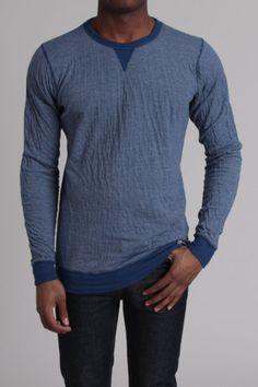 Comfy and casual seersucker stripe crew sweatshirt