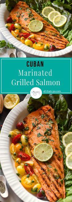 Cuban Marinated Grilled Salmon