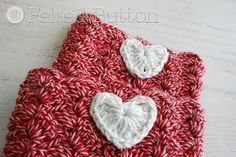 Felted Button - Colorful Crochet Patterns: I Heart Boot Cuffs Free Crochet Pattern