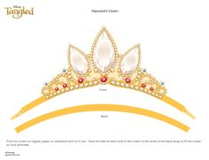 Rapunzel Crown for Tangled party.