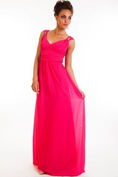 Maxi-Lenght Bright Red Dress by BeIn16.com